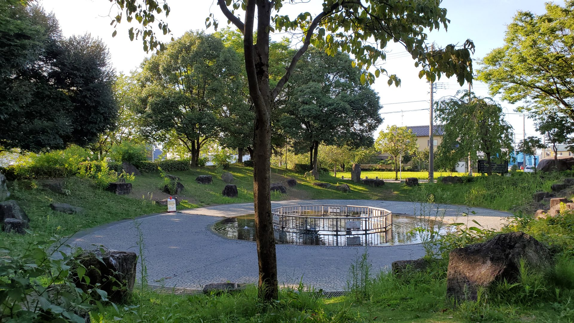 泉の広場、金沢、公園、噴水