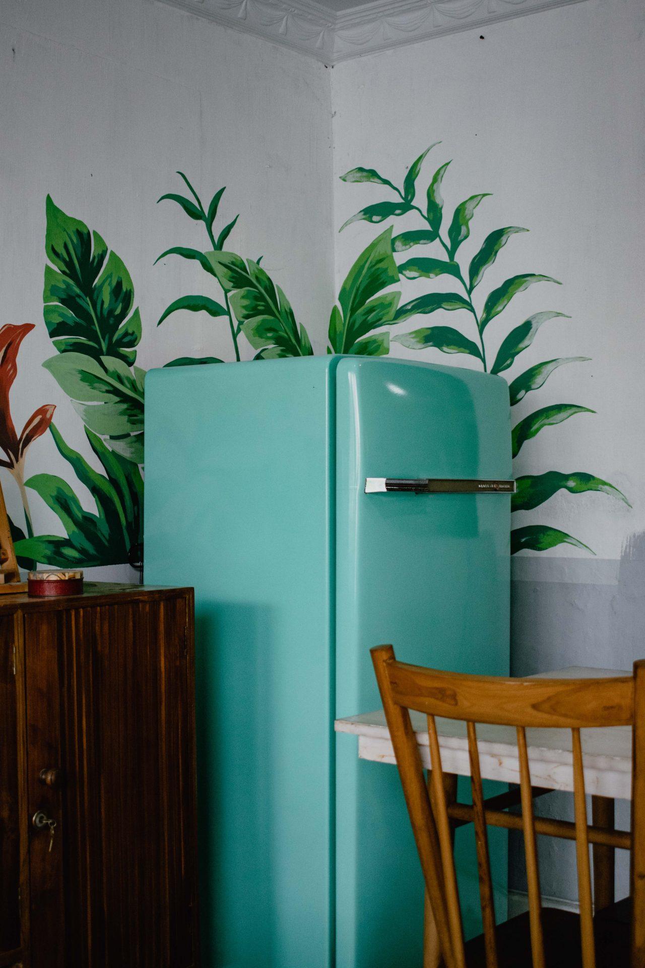 冷蔵庫、冷蔵庫マット、引越し