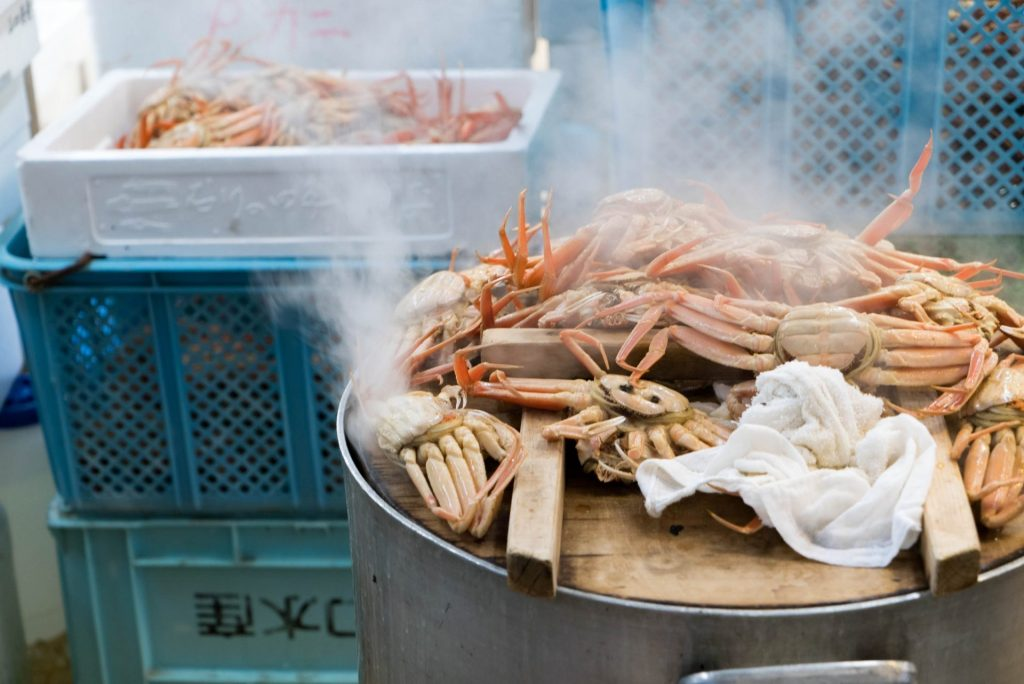 カニ、金沢、近江町市場、